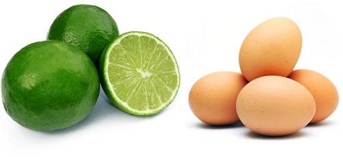 Lòng trắng trứng gà và chanh