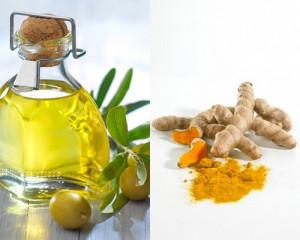 trị nám da bằng nghệ và dầu oliu