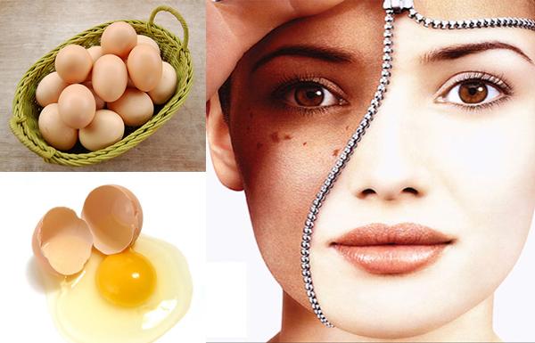Trị nám da mặt bằng trứng gà tại nhà